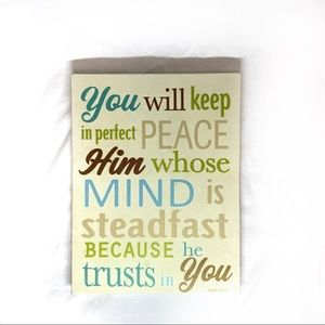 Isaiah 26:3 Bible Verse Wall Art
